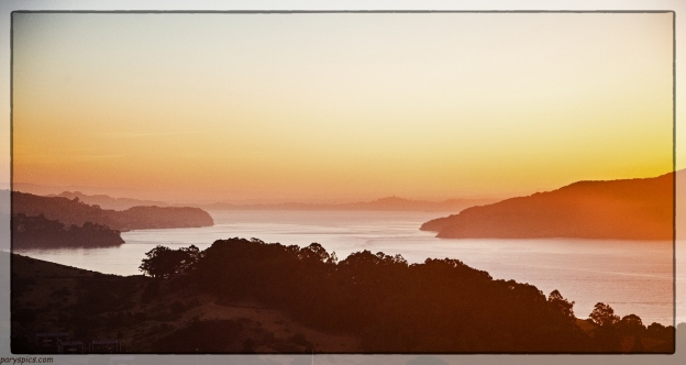 Sunrise looking out to the backwaters of the San francisco bay